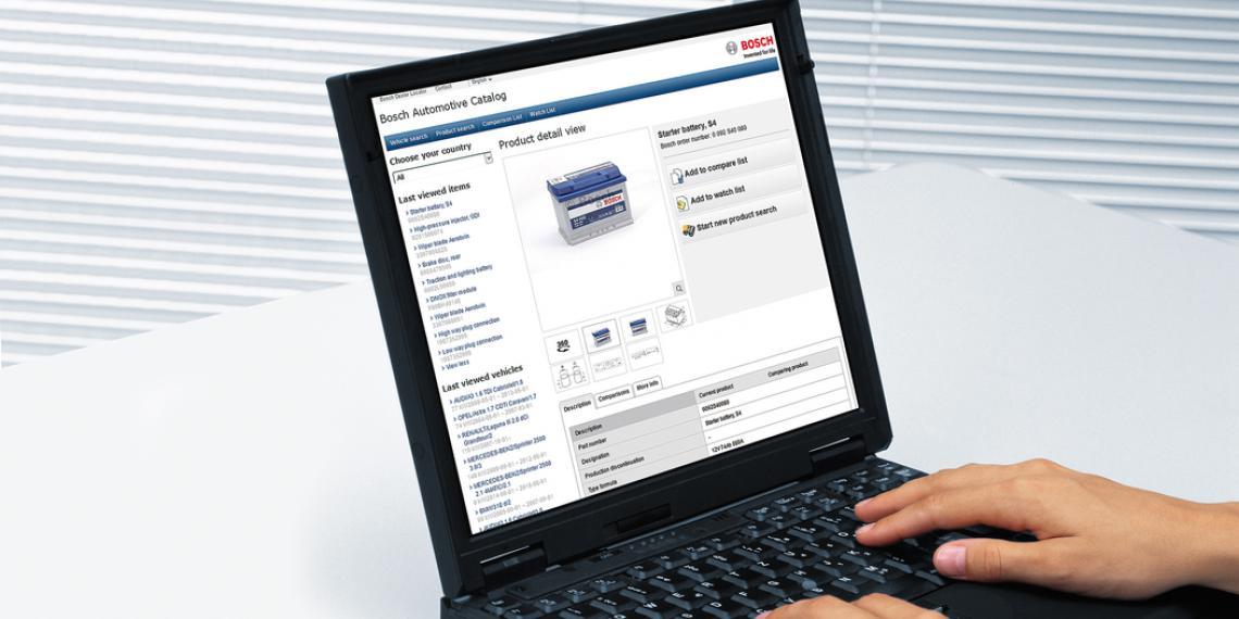 каталог Bosch с 360-градусным обзором товаров