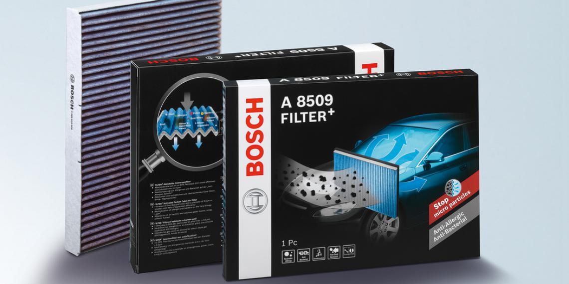 Новые салонные фильтры Bosch для аллергиков