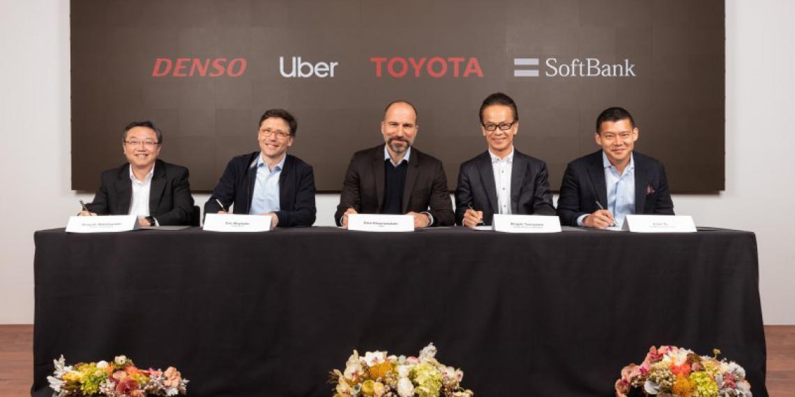 Toyota, DENSO и SVF инвестируют 1 миллиард в Uber ATG