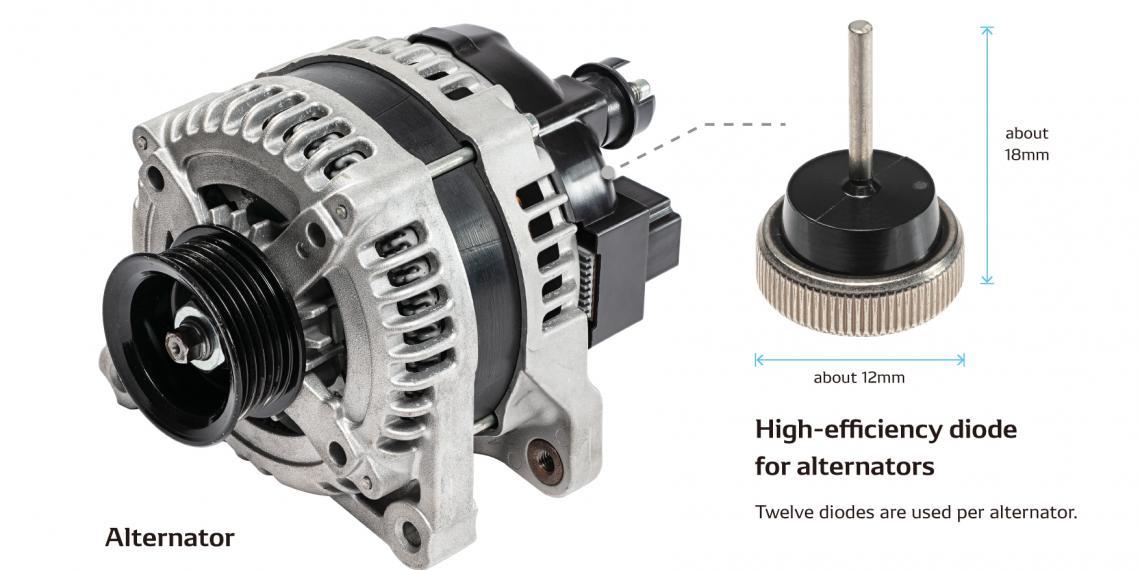 DENSO начнет массовое производство автомобильных генераторов с высокоэффективными диодами
