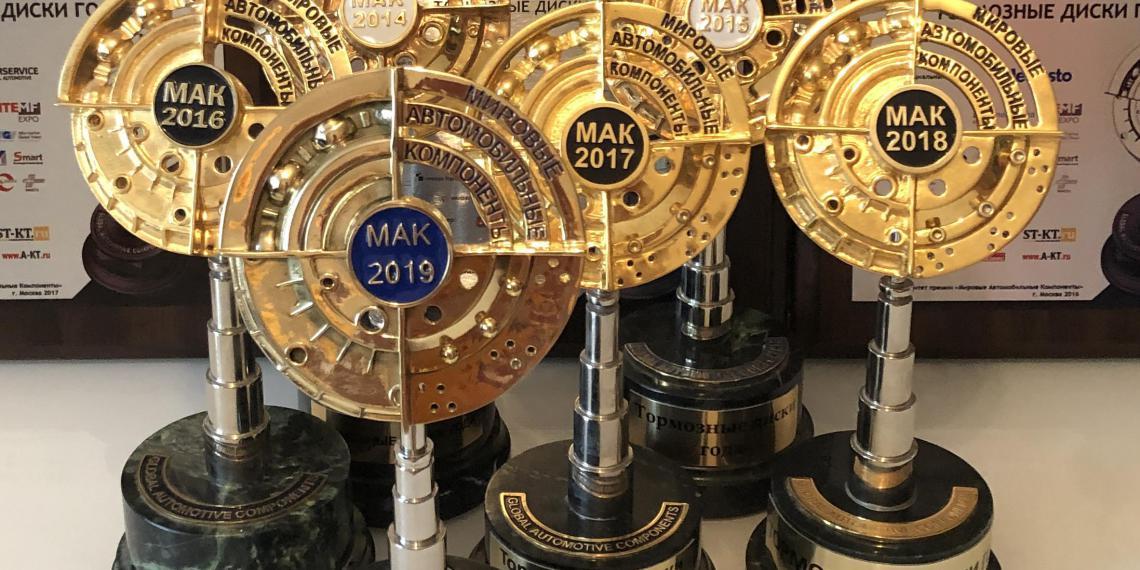 Brembo получил звание лучшего производителя тормозных дисков