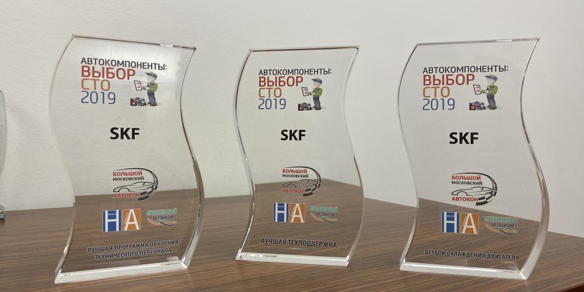 SKF одержала победу в трех номинациях