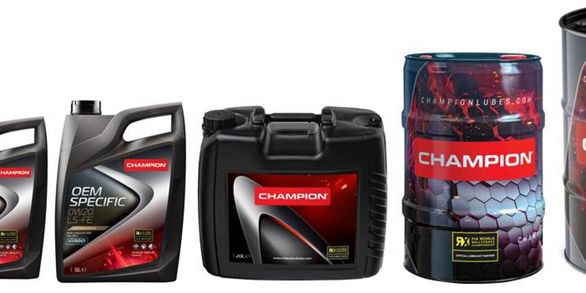 CHAMPION представил новый дизайн канистр и бочек
