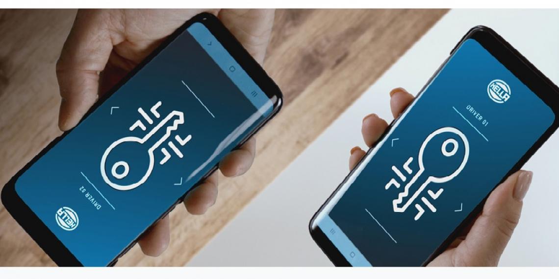 Новый цифровой сверхширокополосный ключ от HELLA