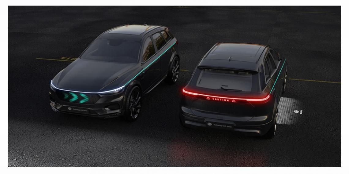 HELLA разрабатывает концепт коммуникации на основе света для автоматизированного вождения
