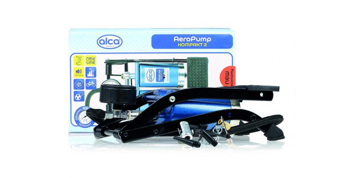 alca выпустила новый двухцилиндровый насос с манометром