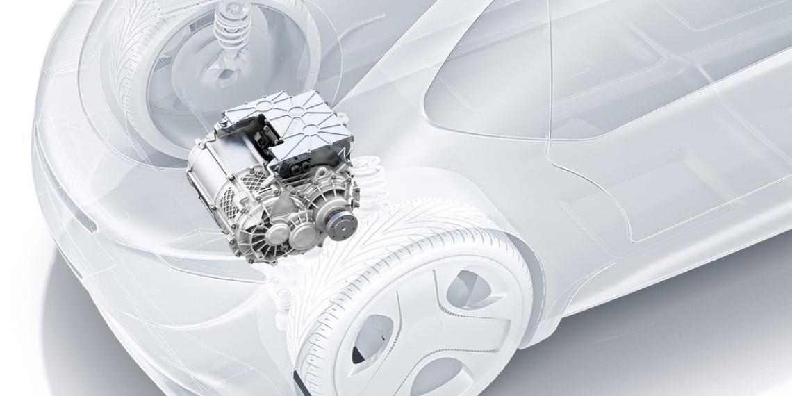 Bosch e-axle работает по принципу «все в одном»
